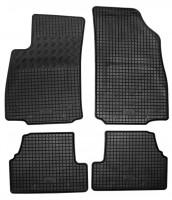 Коврики в салон для Opel Mokka '12- резиновые, черные (Rigum)