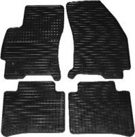 Коврики в салон для Ford Mondeo '01-07 резиновые, черные (Petex)