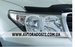 Защита  фар для Toyota Land Cruiser 200 2007-2012 карбон 2 шт. (EGR)