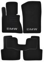 Коврики в салон для BMW X3 E83 '03-09 текстильные, черные (Премиум)