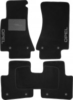 Коврики в салон для Opel Omega B '94-03 текстильные, черные (Люкс) 8 клипс