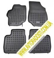Коврики в салон для Peugeot 301 '12- резиновые, черные (Rezawplast)