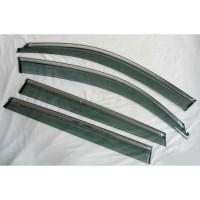 Дефлекторы окон с молдингом для Chery Tiggo 4 '17-, нержавеющая сталь (ASP)