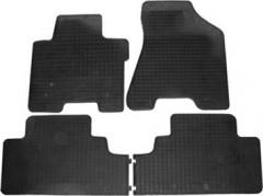 Коврики в салон для Kia Sportage '04-10 резиновые, черные (Petex)