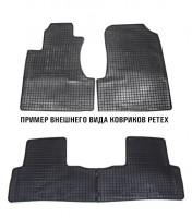 Коврики в салон для Mazda 626 '97-02 (GF) резиновые, черные (Petex) задние