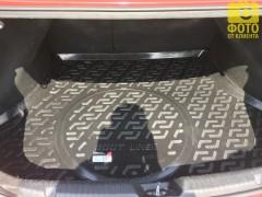 Фото 5 - Коврик в багажник для Kia Cerato '13-17 седан, с полноразмерным зап. колесом, резино/пластиковый (Lada Locker)