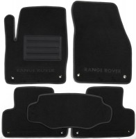 Коврики в салон для Land Rover Range Rover Evoque '11-, 3 дв., текстильные, черные (Люкс)