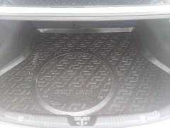 Коврик в багажник для Kia Cerato '13-17 седан, с полноразмерным зап. колесом, резиновый (Lada Locker)