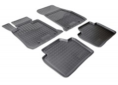 Коврики в салон для BMW 3 F30 '12- полиуретановые, черные (Nor-Plast)