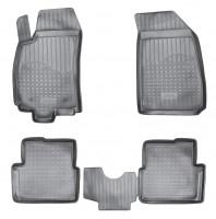 Коврики в салон для Chevrolet Cobalt '12-, седан полиуретановые, черные (Nor-Plast)