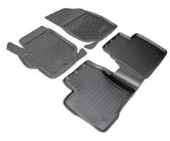 Коврики в салон для Peugeot 301 '12- полиуретановые, черные (Nor-Plast)
