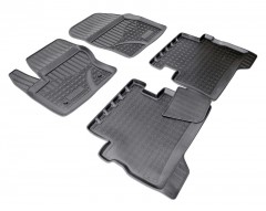 Коврики в салон для Ford Kuga '13- полиуретановые, черные (Nor-Plast)