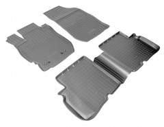 Коврики в салон для Nissan Almera '13- полиуретановые, черные (Nor-Plast)