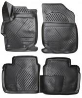 Коврики в салон для Peugeot 301 '12- полиуретановые, черные (Novline / Element) 3D