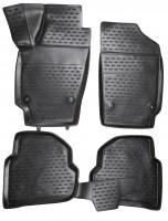 Коврики в салон 3D для Volkswagen Polo '10-, седан полиуретановые (Novline)