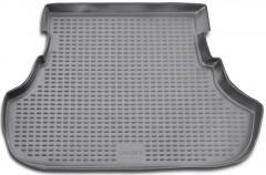 Коврик в багажник для Mitsubishi Lancer X '07-10, 2.0 седан, полиуретановый (Novline / Element) черный