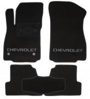 Коврики в салон для Chevrolet Tracker '13- текстильные, черные (Люкс) 2 клипсы