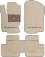 Коврики в салон для Mercedes ML/GLE W166 '11-18 текстильные, бежевые (Премиум) 8 клипс