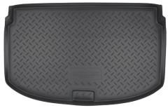 Коврик в багажник для Chevrolet Aveo '11- хетчбэк, полиуретановый (NorPlast) черный