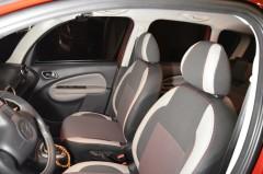 Авточехлы Premium для салона Citroen C3 '10- Picasso красная строчка (MW Brothers)