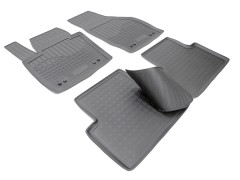 Коврики в салон для Audi Q3 '11- полиуретановые, черные (Nor-Plast)