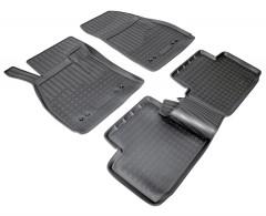 Коврики в салон для Chevrolet Malibu '12- полиуретановые, черные (Nor-Plast)