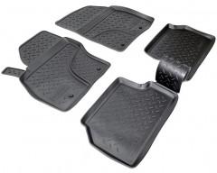 Коврики в салон для Ford Focus II '04-11 полиуретановые, черные (Nor-Plast)