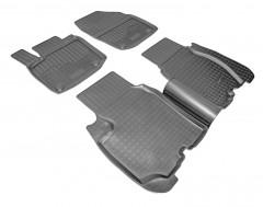 Коврики в салон для Honda Civic 5D '12- полиуретановые, черные (Nor-Plast)