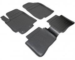 Коврики в салон для Hyundai Accent (Solaris) '11-17 полиуретановые, черные (Nor-Plast)