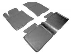 Коврики в салон для Hyundai i40 '12- полиуретановые, черные (Nor-Plast)