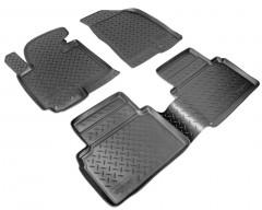 Коврики в салон для Kia Sportage '10-15 полиуретановые, черные (Nor-Plast)