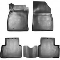 Коврики в салон для Nissan Juke '11- полиуретановые, черные (Nor-Plast)