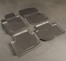 Коврики в салон для Peugeot 4007 '07-12 полиуретановые, черные (Nor-Plast)