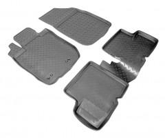 Коврики в салон для Renault Duster '10-14, 2WD полиуретановые, черные (Nor-Plast)