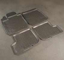 Коврики в салон для Renault Sandero '08-12 полиуретановые, черные (Nor-Plast) Эконом
