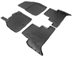 Коврики в салон для Renault Scenic '09- полиуретановые, черные (Nor-Plast)