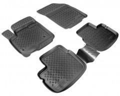 Коврики в салон для Suzuki SX4 '06-14 полиуретановые, черные (Nor-Plast)