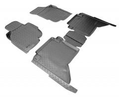 Коврики в салон для Toyota Hilux '11-15 полиуретановые, черные (Nor-Plast)