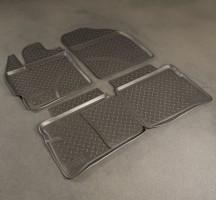 Коврики в салон для Toyota Prius '09-15 полиуретановые, черные (Nor-Plast)