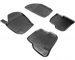 Коврики в салон для Volkswagen Polo '09-17 хетчбек полиуретановые, черные (Nor-Plast)