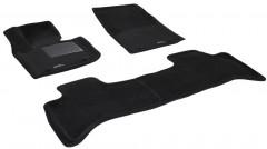 Коврики в салон для Land Rover Range Rover Vogue SE '10-12 текстильные 3D, черные (3D Mats)