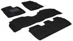 Коврики в салон для Lexus LX 570 '08-11 текстильные 3D, черные (3D Mats)
