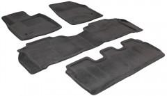 Коврики в салон для Lexus LX 570 '08-12 текстильные 3D, серые (3D Mats)