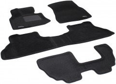 Коврики в салон для BMW X5 E70 '07-13 текстильные 3D, черные (3D Mats)