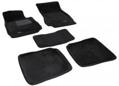 Коврики в салон для Mercedes S-Class W221 '06-13 текстильные 3D, черные (3D Mats) Long,