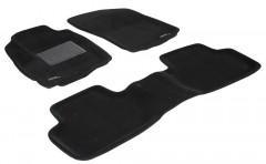 Коврики в салон для Mitsubishi Outlander XL '07-12 текстильные 3D, черные (3D Mats)
