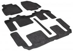 Коврики в салон для Mazda CX-9 '08-16 текстильные 3D, серые (3D Mats) 1+2+3 ряд,