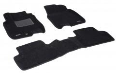 Коврики в салон для Nissan Qashqai '06-14 текстильные 3D, черные (3D Mats)