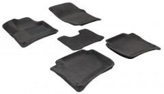 Коврики в салон для Porsche Cayenne '10-17 текстильные 3D, серые (3D Mats)