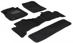 Коврики в салон для Toyota Land Cruiser Prado 120 '03-09 текстильные 3D, черные (3D Mats)